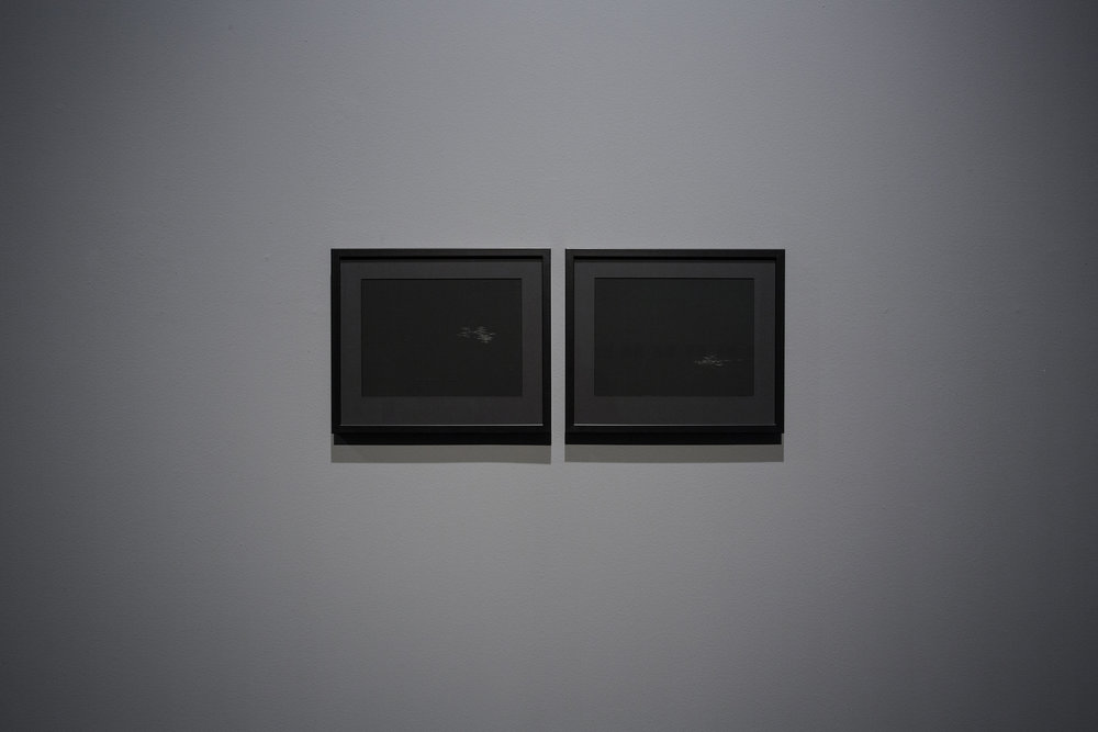 Lala Rukh  Nightscape II: 1, 2  2011 Graphite on carbon paper 20.32 x 26.67 cm (each)