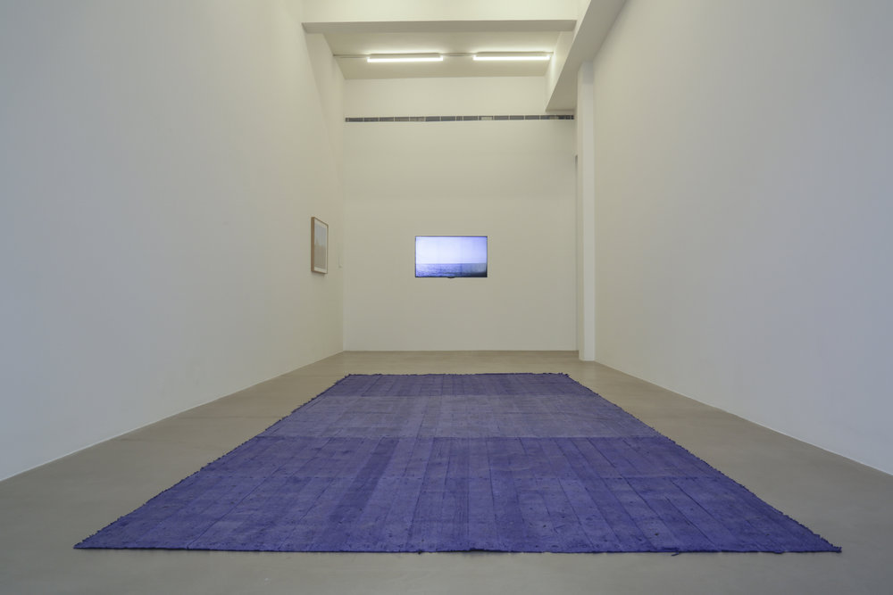 Caline Aoun  Shipping Container Floor 2016 Carbon paper cast 234 x 590 cm