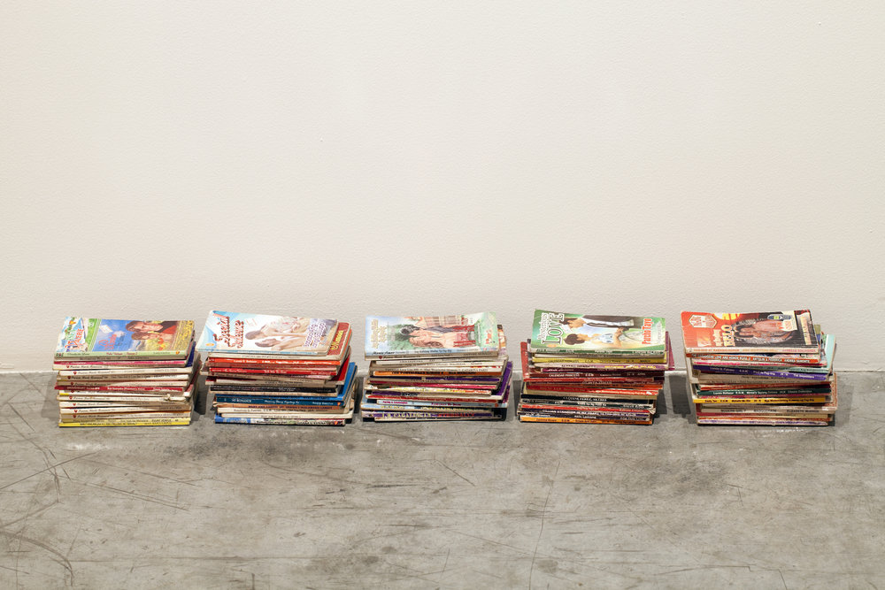 Lantian Xie  Romance Section 2016 All the books from the Romance section at a used book store in Dubai Dimensions variable