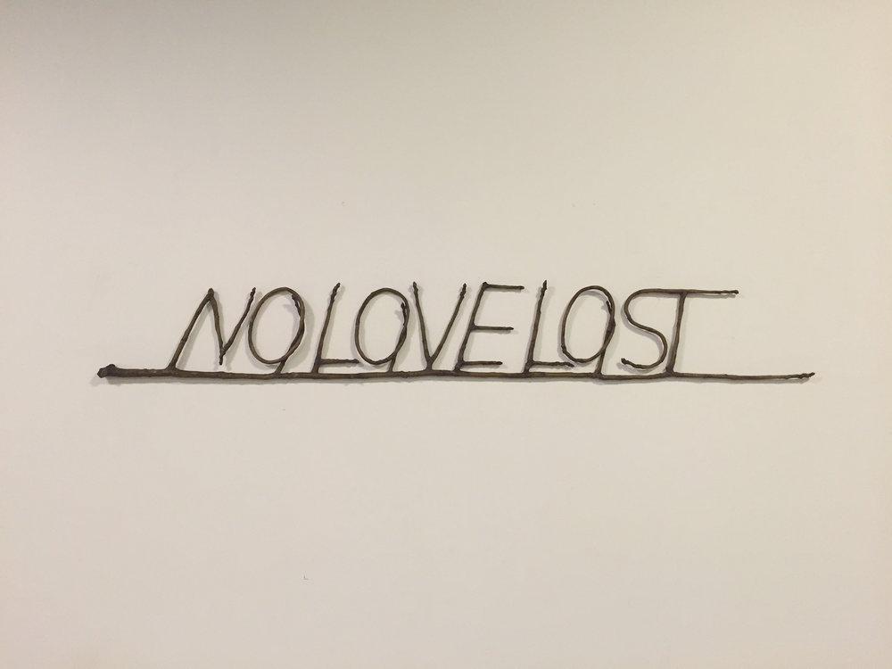 No love lost 2013 Bronze 15.5 x 108 x 2 cm Edition of 5