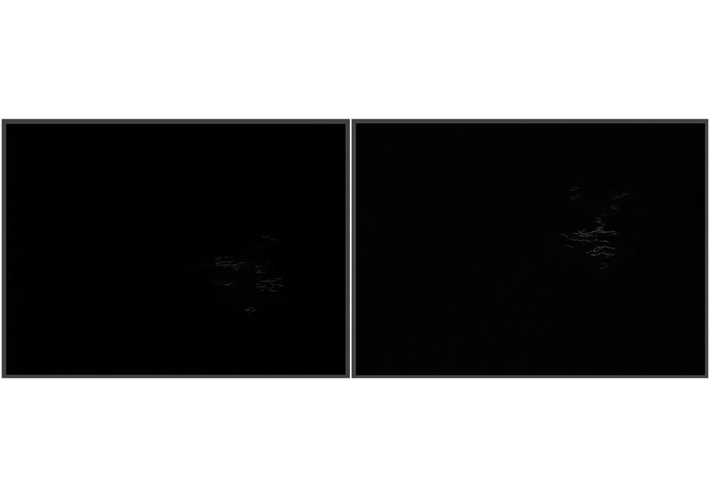 Lala Rukh  Nightscape II (4, 5 - diptych) 2011 Graphite on carbon paper 20.32 x 26.67 cm each