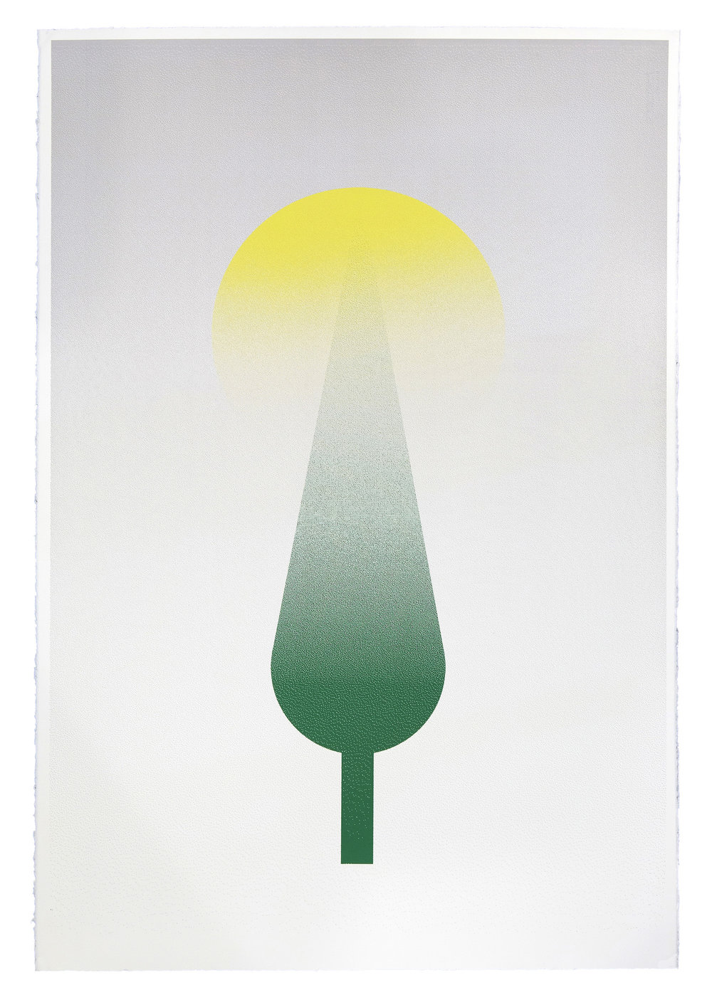 Fahd Burki   Toward Light 2013 Screen print on paper 112.5 x 76.5 cm