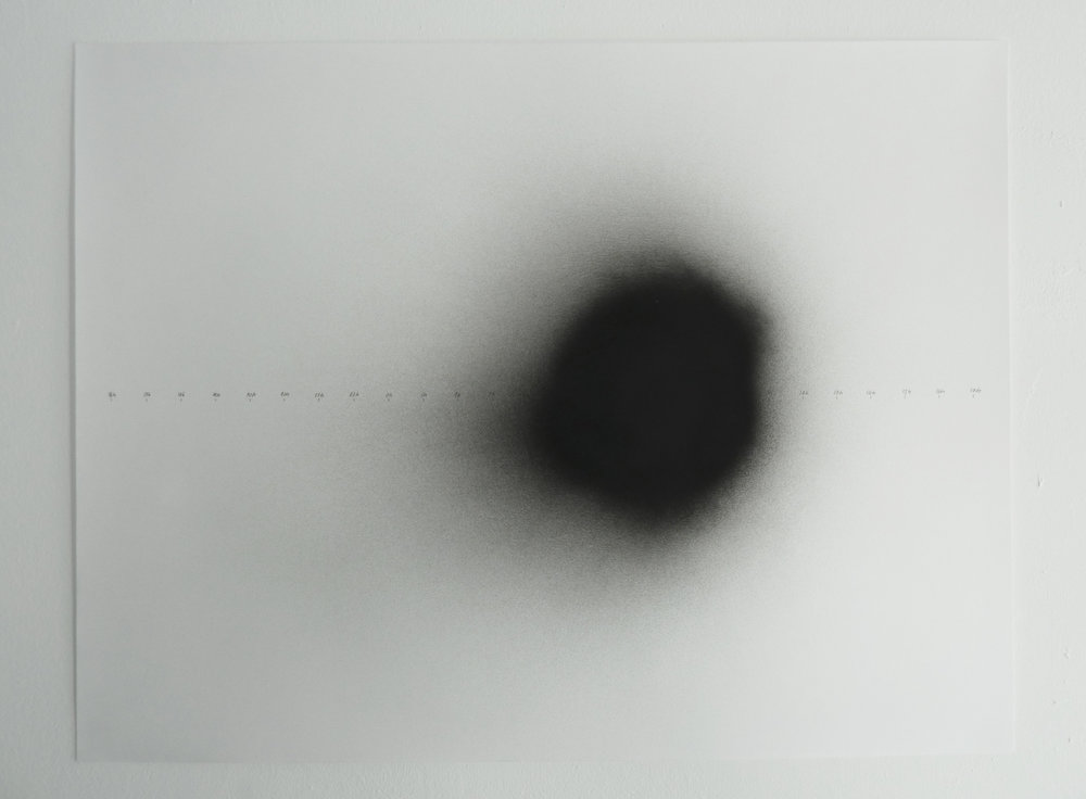No Light In White Light / Nights cartography Night of 06/05/2013 2012 – 2013 (ongoing series) Carbon and black spray on paper 50 x 70 cm