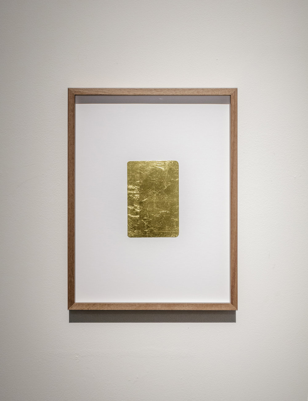Stéphanie Saadé  Golden Memories 2015 Old photograph, gold leaf 10 x 14.5 cm