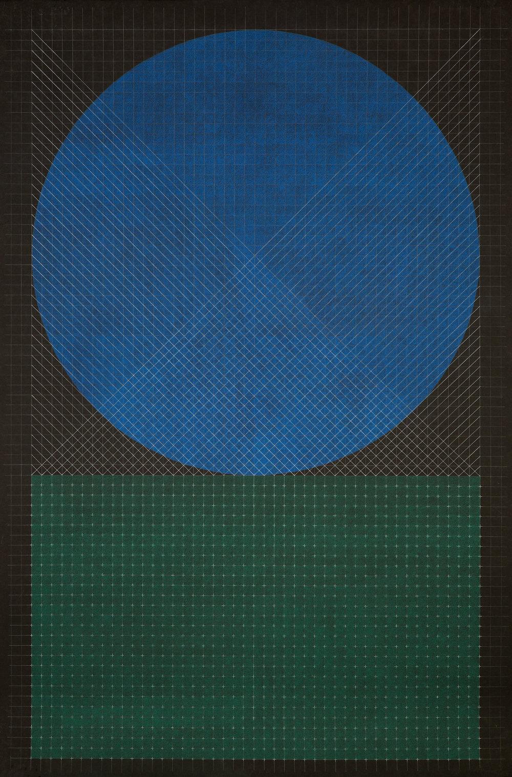 Fahd Burki  Untitled 1 2015 Pastel pencils on paper 154 cm x 101.5 cm