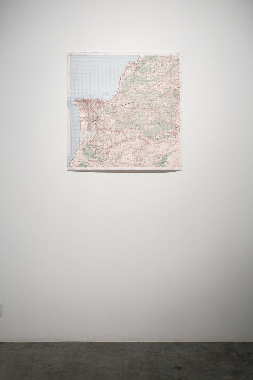 Stéphanie Saadé  Nostalgic Geography 2013 Print on paper laser cut stainless steel 83 x 83 cm Edition 2/3