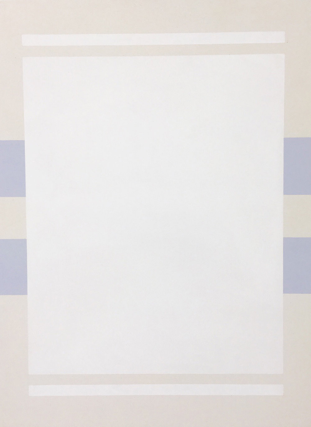 Fahd Burki  Untitled 4 2018 Acrylic gesso on canvas 100 x 76 cm