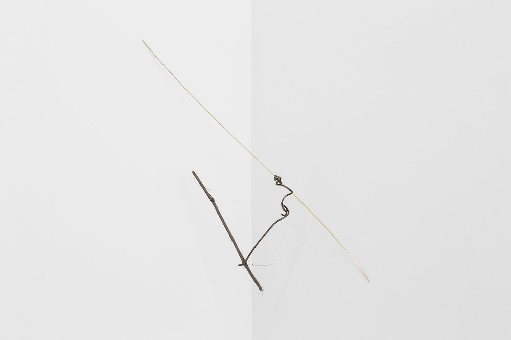 Joana Escoval  An empty list of things missing 2017 Gold, wood Approx., 44 x 15 x 16 cm  Unique