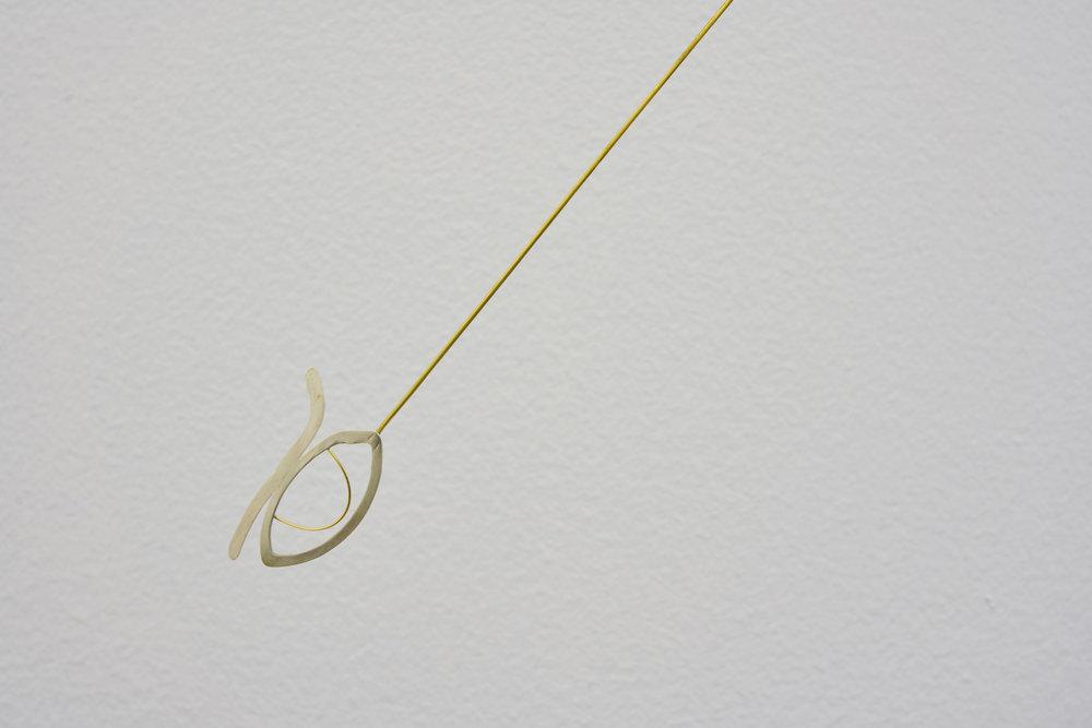 Dia (detail) 2018  Gold, brass, silver 50 x 87 x 8.8 cm