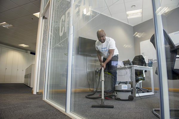Nottingham Contract Cleaning office floor vacuuming