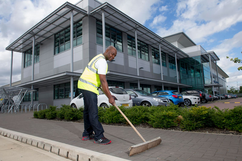 Astrum team delivering specialist car park cleaning