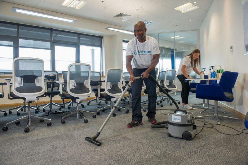 Astrum cleaning office boardroom in Coventry