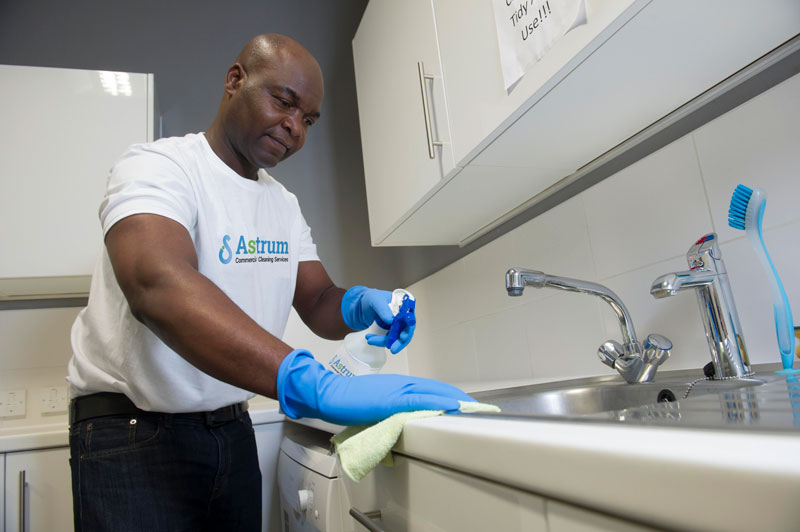 Astrum personnel cleaning office kitchen sink