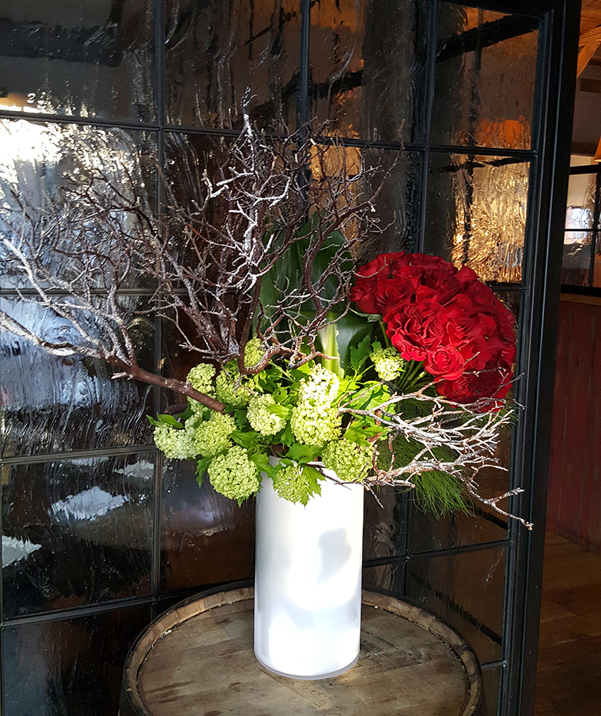 Decorative arrangements for offices and/or restaurant decor.