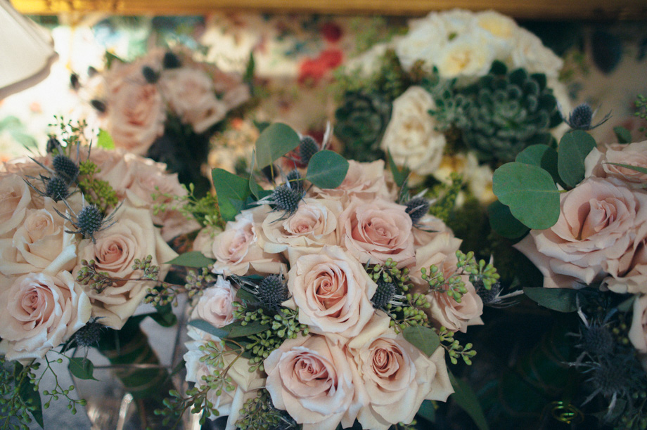Light pink roses in beautiful bouquets by Bouquets and Beyond of Woodbury, CT
