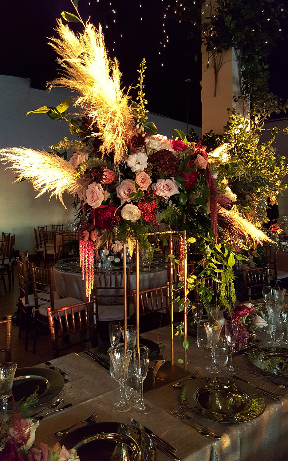 Simple flower centerpiece designed by Bouquets & Beyond of Woodbury