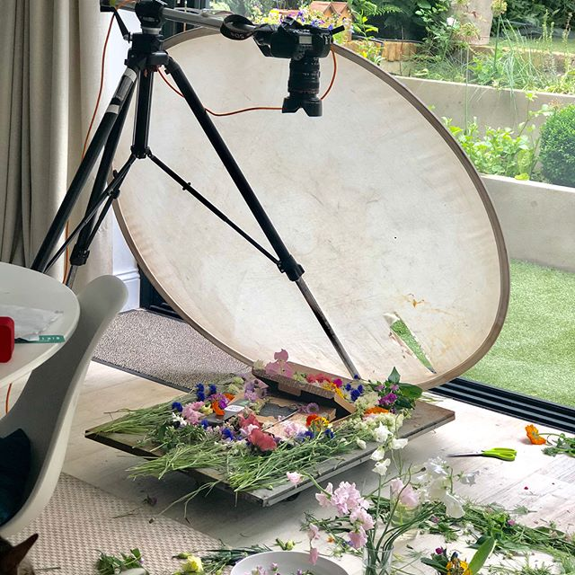Fabulous day when @n5studios floors are covered in #flowers for @gluttonousgardener . @georgia_glynn_smith shooting #fab #new #products #watchthisspace  #smellsdelicious #happy #london #location #studio #stillsphotography #packagingdesign #packshot #bookme