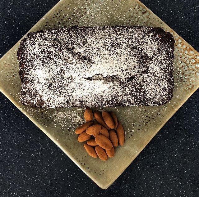 Double Chocolate Banana Cake with Ecuadorian Cacao Volcanic Pili Nuts