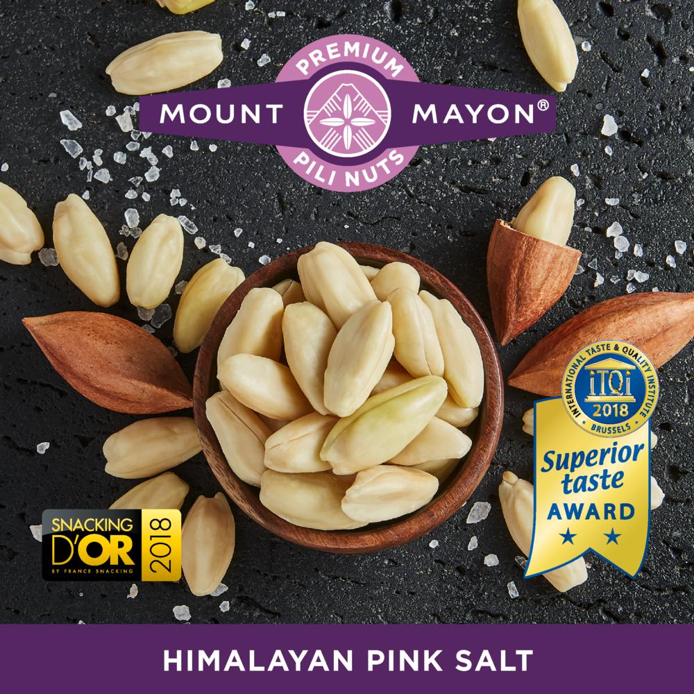 Himalayan Pink Salted Premium Pili Nuts///Noix de pili au sel rose de l'Himalaya