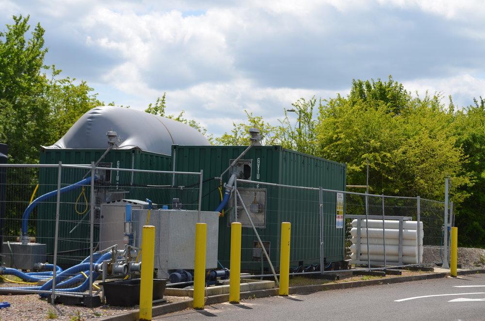 Food waste fed 20ft bioQUBEs