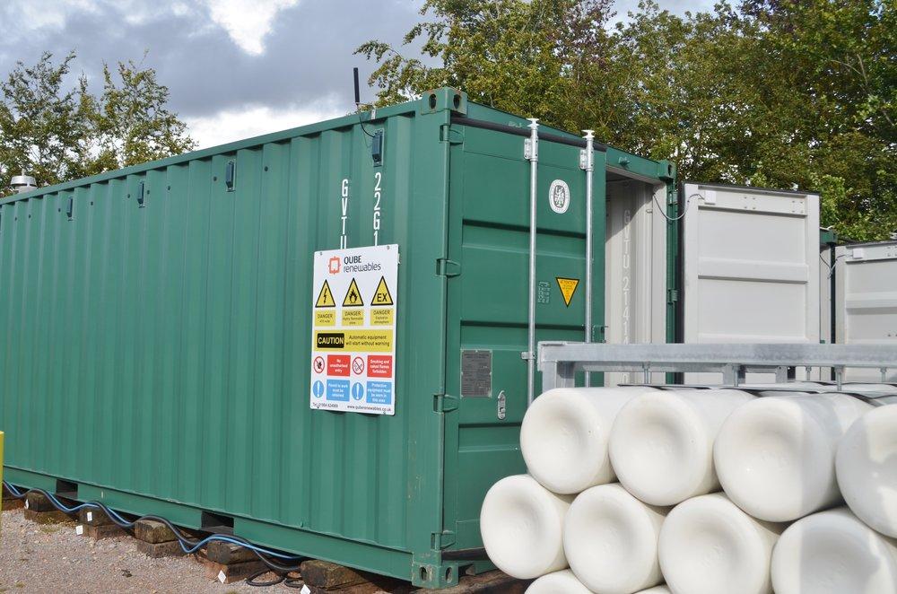 Biomethane pressurised in bottles