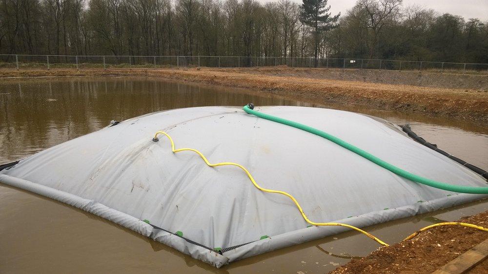 Collect biogas, harvest rainwater