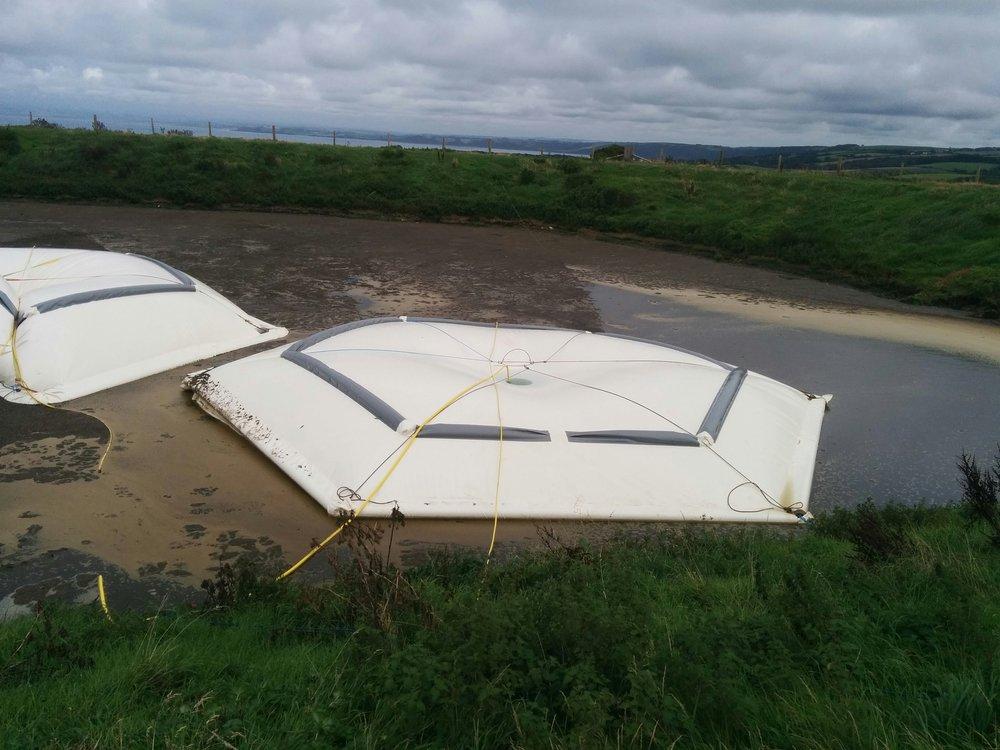 Pair of lagoonQUBES for rain capture