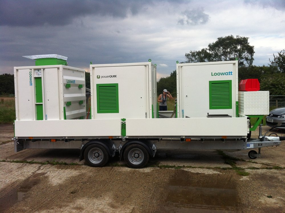 QUBE Renewables - powerQUBE - on trailor for Loowatt.JPG