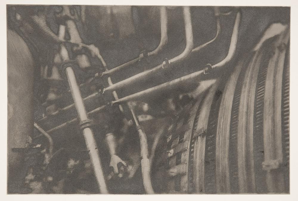 F-1 Engine Details - Silver Ink O/ Black