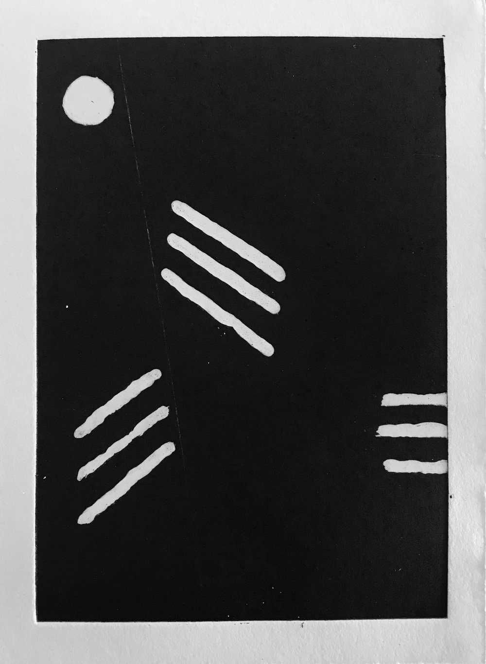 Etching, 16 x 8 cm