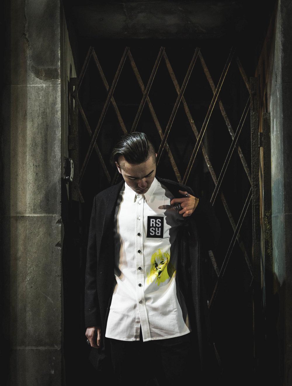 Wearing:   COS Overcoat  Raf Simons Dress Shirt  Photo by Adam Zarowny.