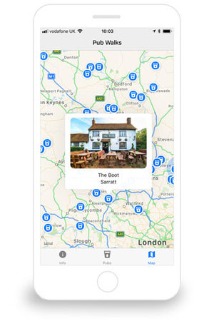 Pub Walks Free App For IPhone And Android - Map your walk app