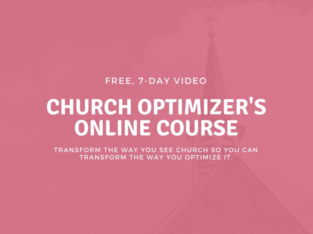 Are you tired of church as much as I am? -
