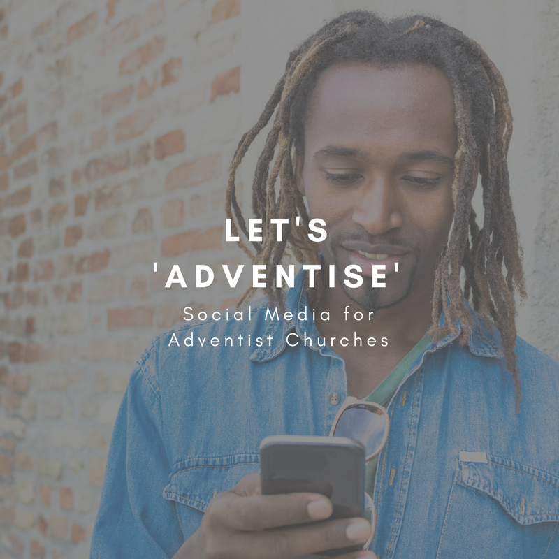 Let's 'Adventise' - A simple, 12-module course that reveals the most effective methods for local church marketing focusing on website and social media development. Coming Soon. (Subscribe to the Newsletter to be the first to know when it becomes available)