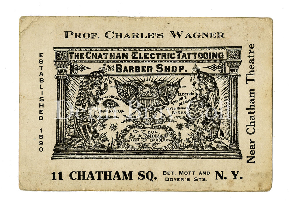 Charlie Wagner Business Card, 11 Chatham Sq., ca. 1930