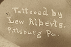 Tattooed by Lew Alberts Pittsburg Pa Tattooed by Prof. Getchell norfolk, VA tattooed by prof. Wagner new york tattooed cabinet card photo rppc photo postcard antique