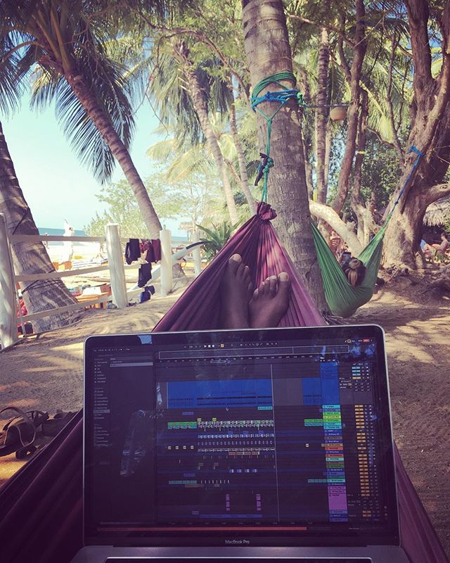 Beautiful place, nasty bass. #beachlife #ilovehammoks #eskimonebula #sounddesign #abletonlive10