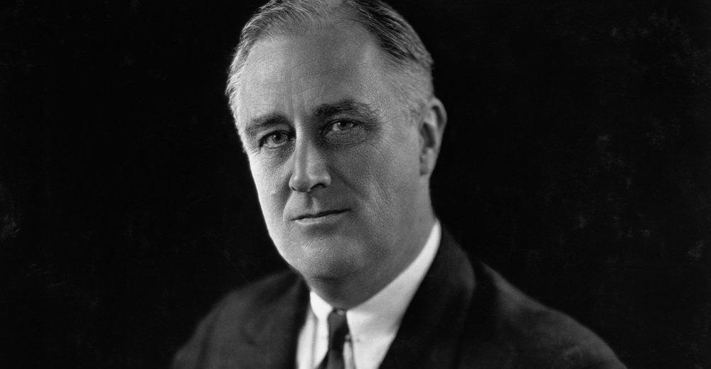 Franklin D. Roosevelt (Bron: history.com)