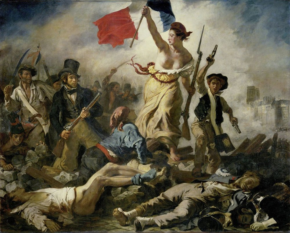 La liberté guidant le peuple (De vrijheid leidt het volk) van Eugène Delacroix (Bron: Wikipedia)