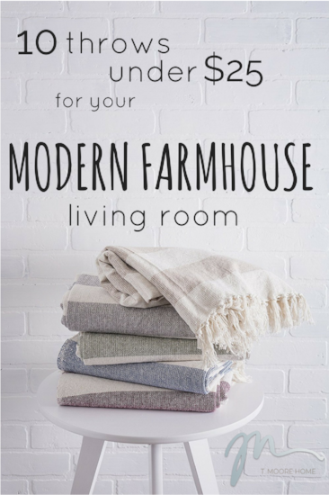 modern farmhouse throws