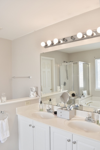 three mirrors in one room because we just can't get enough of ourselves