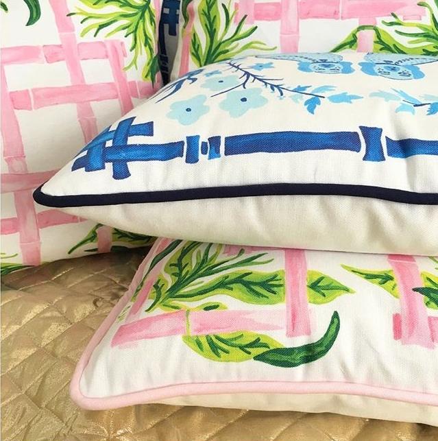 Vera Pillow | Aldrich & Mademe De Bleu Pillow  Willa Heart