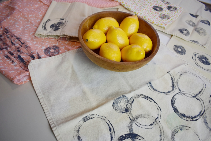 fabric paint prints with fruits.JPG