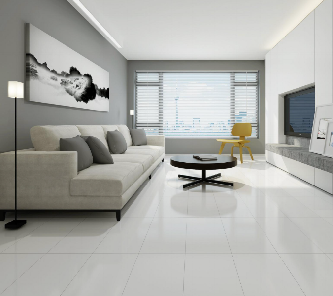 Super White Porcelain Tile - Floor & Decor