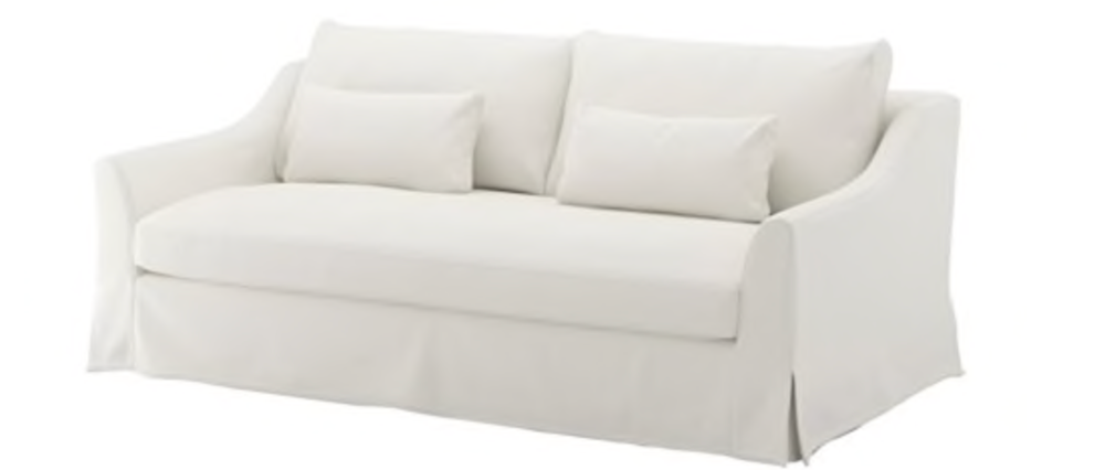Ikea Farlov Sofa in White.png