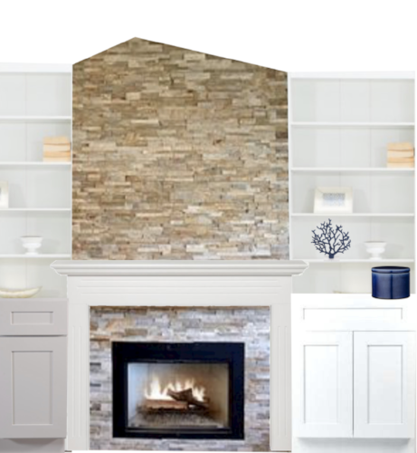 fireplace wall redesign
