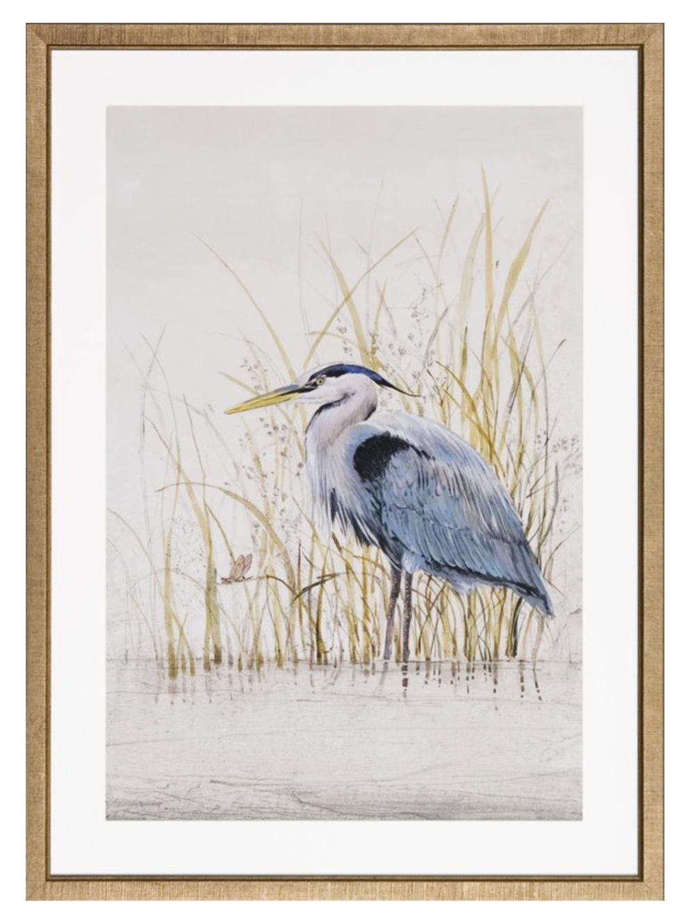 pottery barn style framed heron print for less
