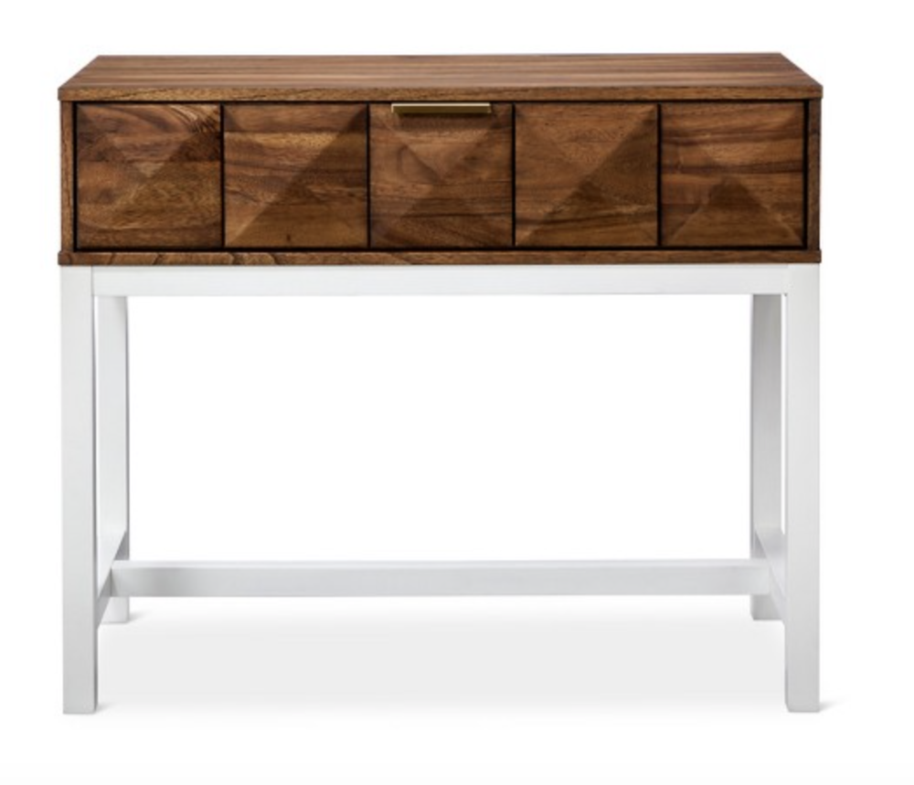 modern wood console table for less than $100