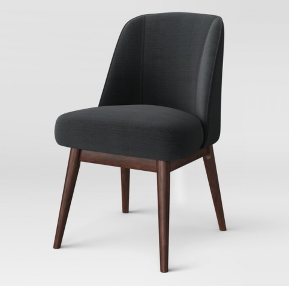 modern gray side chair