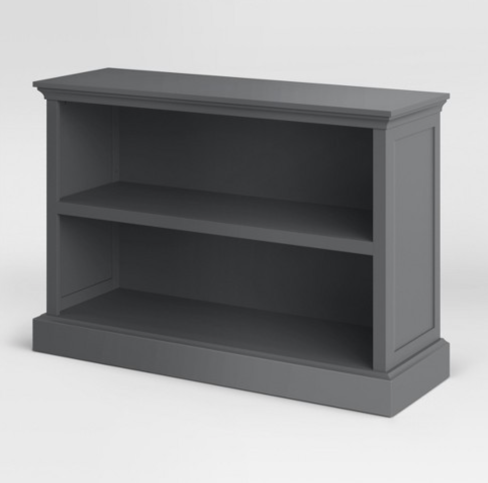 cheap gray bookcase